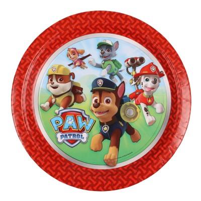 Amscan Assiettes en carton pat'patrouille (paw patrol) : 8 assiettes de fête