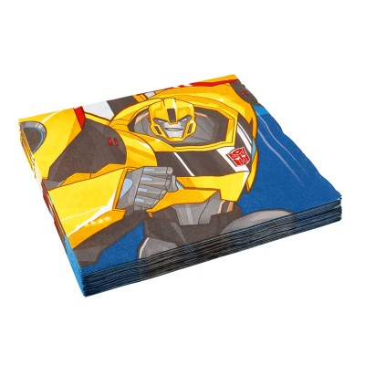 Amscan 20 serviettes en papier : transformers : bumblebee