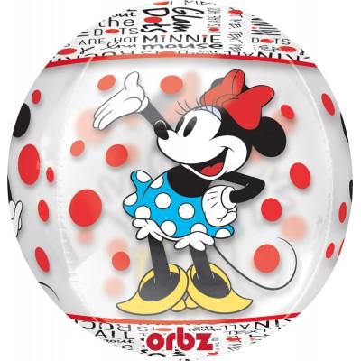 Amscan Ballon sphérique transparent : minnie