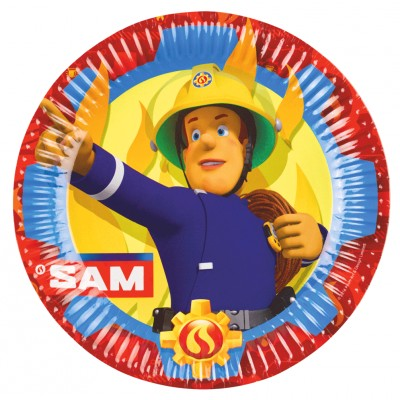 Amscan 8 assiettes sam le pompier