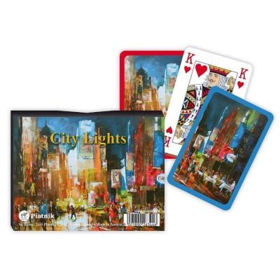 Piatnik Jeux de cartes : Coffret 2 x 55 cartes : City Lights. Jeux de cartes : Coffret 2 x 55 cartes : City Lights