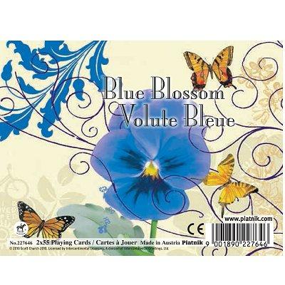 Piatnik Jeu de cartes : Coffret de 2 x 55 cartes : Volute bleue. Jeu de cartes : Coffret de 2 x 55 cartes : Volute bleue