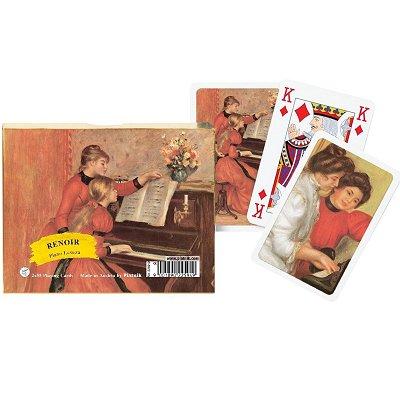 Piatnik Jeu de cartes : Coffret de 2 x 55 cartes : Renoir : Leçon de piano