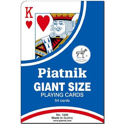 Piatnik Jeu de 54 cartes : cartes géantes