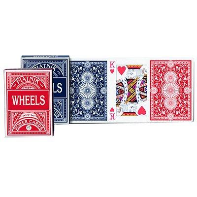 Piatnik Jeu de 55 cartes Wheels Poker : Rouge
