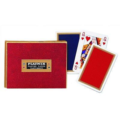 Piatnik Jeu de cartes : Coffret de 2 x 55 cartes : Monogram de Luxe. Jeu de cartes : Coffret de 2 x 55 cartes : Monogram de Luxe