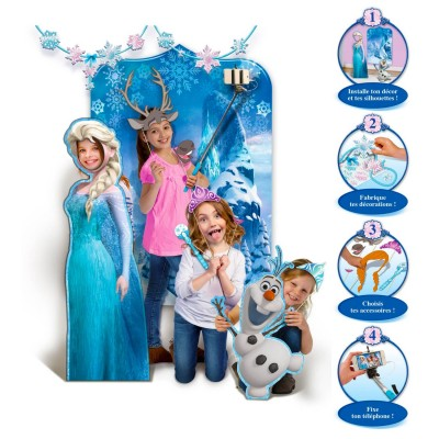 Canal Toys selfie booth photo délire : photo studio party : la reine des neiges (frozen)
