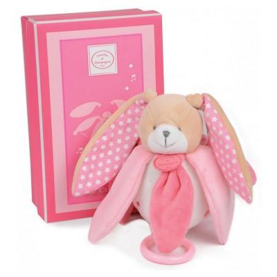 Doudou Et compagnie boîte à musique : lapin rose