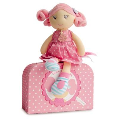 Doudou Et compagnie les demoiselles brin de folie : poupée rose bonbon