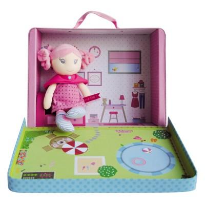 Doudou et Compagnie Coffret valisette Brin de folie : Ma maison et sa poupée