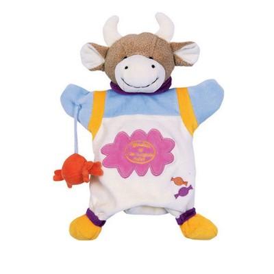 Doudou Et compagnie doudou marionnette vache cerise la gourmande