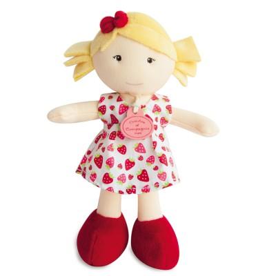 Doudou Et compagnie les petites demoiselles : poupée robe à fraise