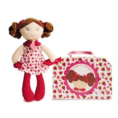 Doudou Et compagnie les demoiselles brin de folie : poupée fraisine
