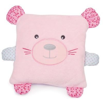 Doudou Et compagnie coffret couverture et coussin : souris rose