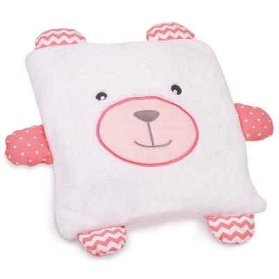 Doudou Et compagnie coffret couverture et coussin : ours blanc et rose