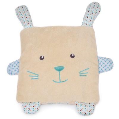 Doudou Et compagnie coffret couverture et coussin : lapin beige