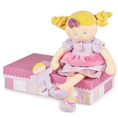 Doudou Et compagnie les demoiselles gourmandises : poupée mlle rose