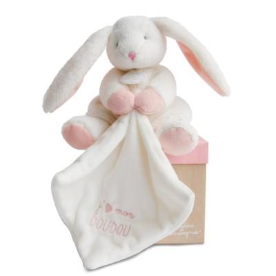 Doudou Et compagnie j'aime mon doudou : peluche et doudou lapin rose