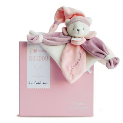Doudou Et compagnie j'aime mon doudou : ours rose collector