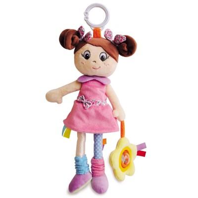 Doudou Et compagnie peluche d'activité : poupée fille