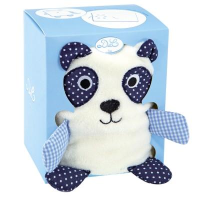 Doudou Et compagnie couverture blanche avec panda bleu
