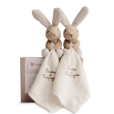 Doudou et Compagnie Coffret duo : J'aime mon doudou lapin