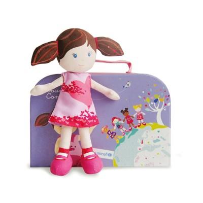 Doudou Et compagnie poupée de chiffon unicef : cherry