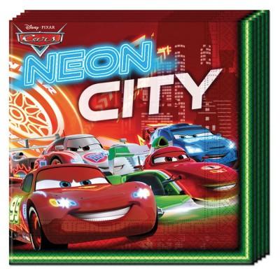 Procos Serviettes en papier Cars Néon x20