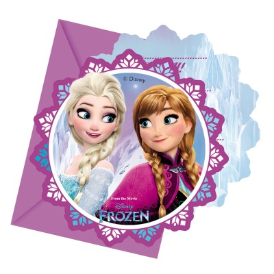 Procos Invitations : la reine des neiges (frozen) x6