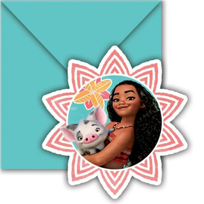 Procos Invitations disney : vaiana x6