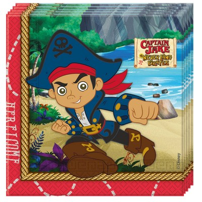 Procos Lot de 20 serviettes jake le pirate x20
