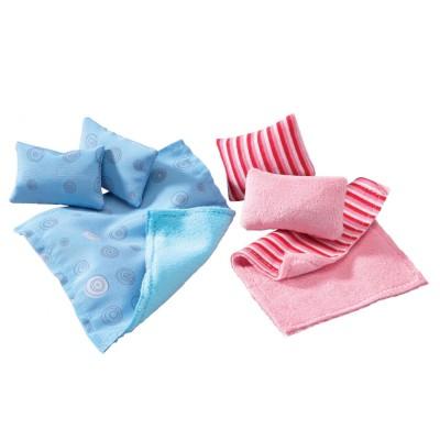 Haba Accessoire maison de poupées : little friends : oreillers et couvertures