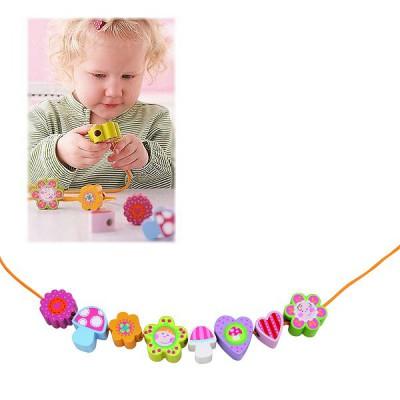 Perles en bois enfants fleurs haba magasin de jouets - Perle pour enfant ...