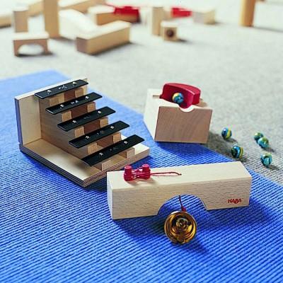 Haba Accessoires pour toboggan à billes : escalier sonore
