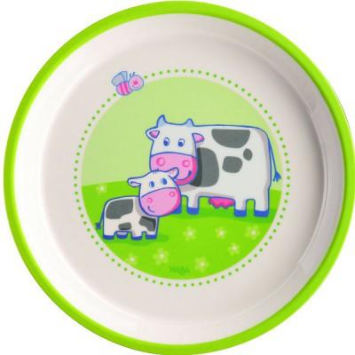 Haba Assiette en mélamine a la ferme : 18 cm
