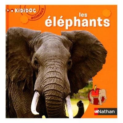 Nathan Livre Kididoc Animaux : Les éléphants