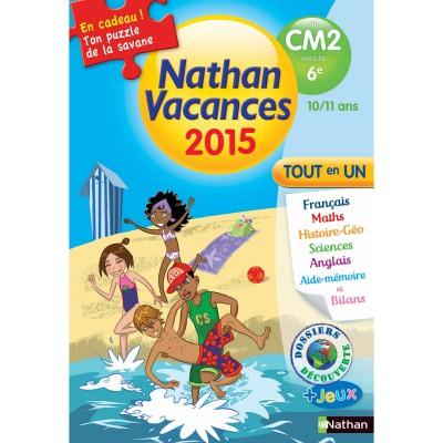 Nathan Cahier de vacances Primaire : Du CM2 à la 6ème Nathan Vacances 2015 Tout en un