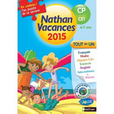 Nathan Cahier de vacances Primaire : Du CP vers le CE1 Nathan vacances 2015 Tout en un