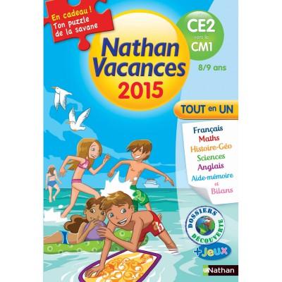 Nathan Cahier de vacances Primaire : Du CE2 vers le CM1 Nathan vacances 2015 Tout en un