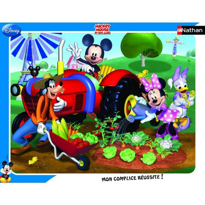 Nathan Puzzle cadre - 35 pièces - mickey : mickey et ses amis au jardin
