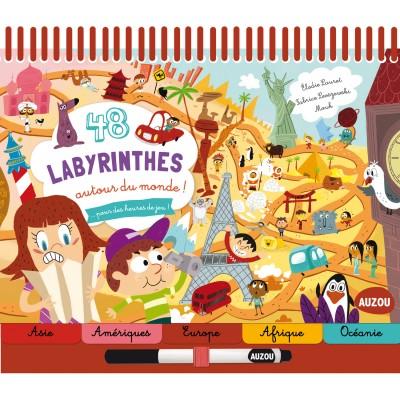 Editions Auzou Livre éducatif : 48 labyrinthes Autour du monde !