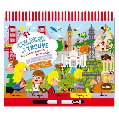 Editions Auzou Livre éducatif : Cherche et Trouve les monuments du monde