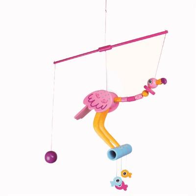Le Coin des enfants mobile les oiseaux perchoir : flamingo