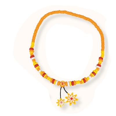 Le Coin des enfants collier 2 pendentifs : fleur jaune