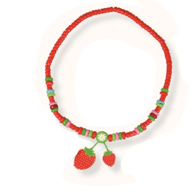 Le Coin des enfants collier 2 pendentifs : fraises