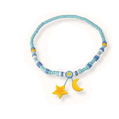 Le Coin des enfants collier 2 pendentifs : etoile et lune