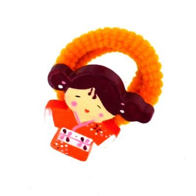 Le Coin des enfants chouchou kokeshi : akiko (lot de 2)