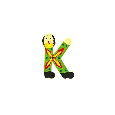 Le Coin des Enfants Lettre clown en bois : K