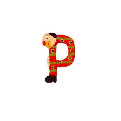 Le Coin des enfants lettre clown en bois : p