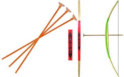 Le Coin des enfants arc grand modèle + 3 flèches rouge